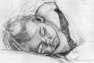 pencil study of child